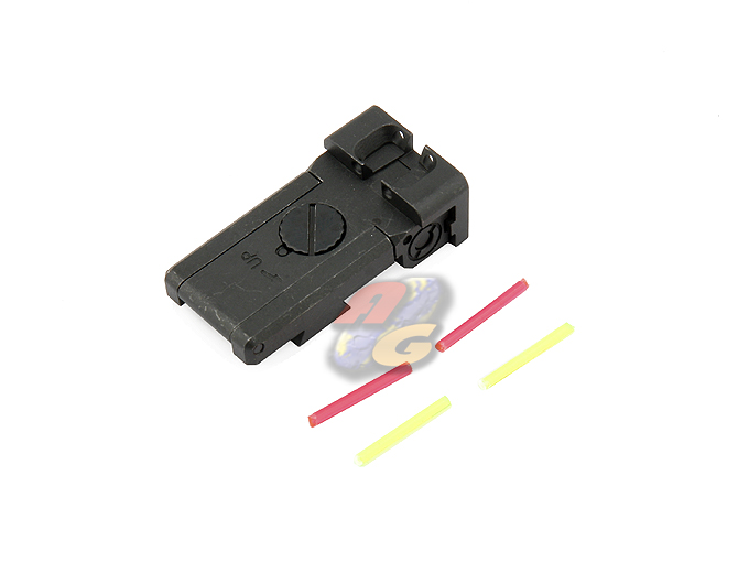 Anvil CNC Steel BO-MAR Glow Fiber Sight For Marui Hi-Capa (Dawson)