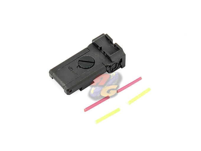 Anvil CNC Steel BO-MAR Glow Fiber Sight For Marui Hi-Capa (Infinity)
