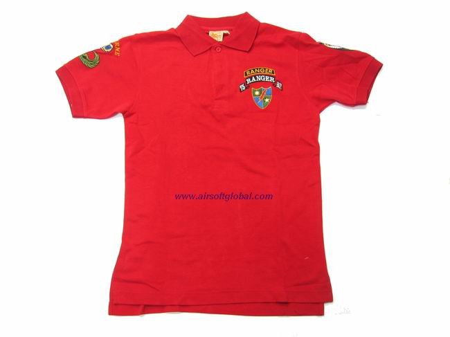 Burst POLO Shirt - 75 th Ranger (Red) - M**Last One**