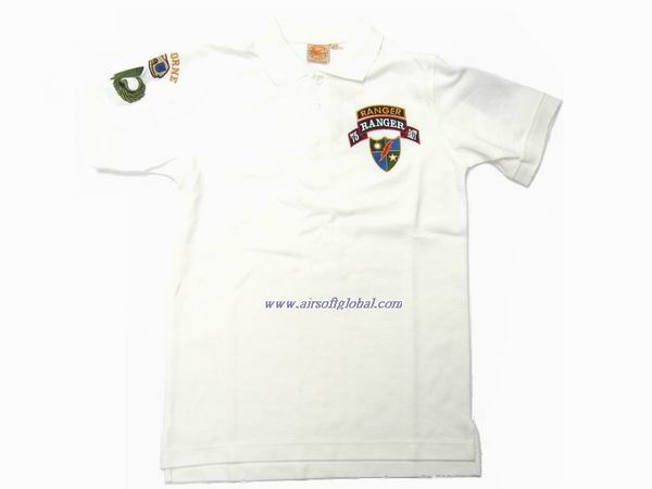 Burst POLO Shirt - 75 th Ranger (White) - M