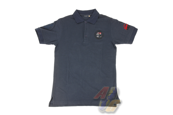Burst POLO Shirt - Glock (Dark Blue) - L