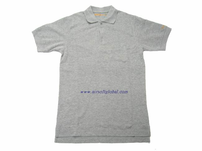 Burst MAGNUM POLO Shirt ( Grey ) - L **Last One**