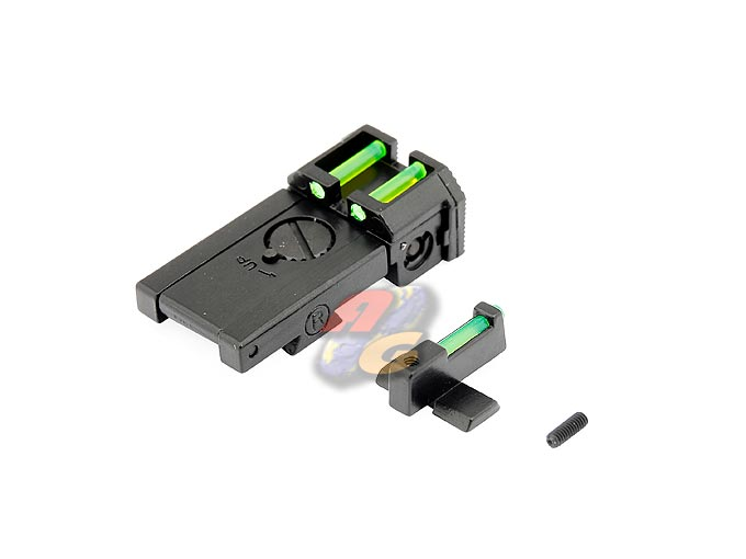 Gas Paradise Glow Fiber Front & Rear Sight For Marui Hi-Capa 5.1