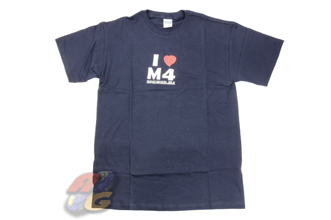 Gildan T-Shirt ( Dark Blue, I Love M4, XL )