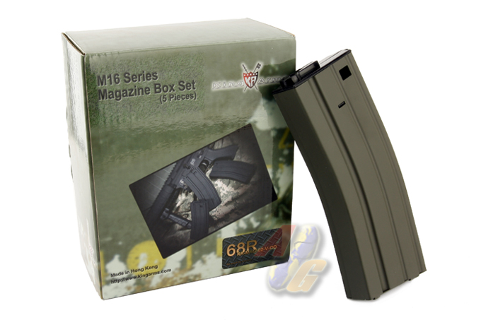 King Arms 68 Rounds Magazine For M16/ M4 Series (OD) - Set (5 PCS)