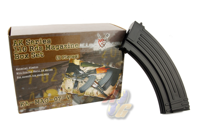 King Arms AK 110 Rounds Magazines Box Set (5pcs)