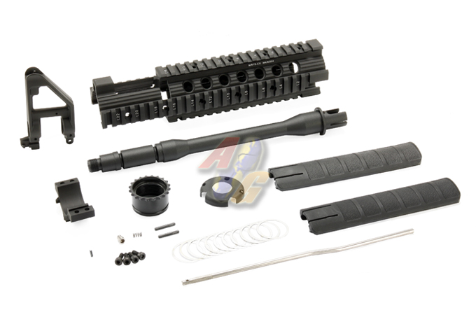 King Arms 10 inch Free Floating Forearm w/ CQB Outer Barrel (CX)