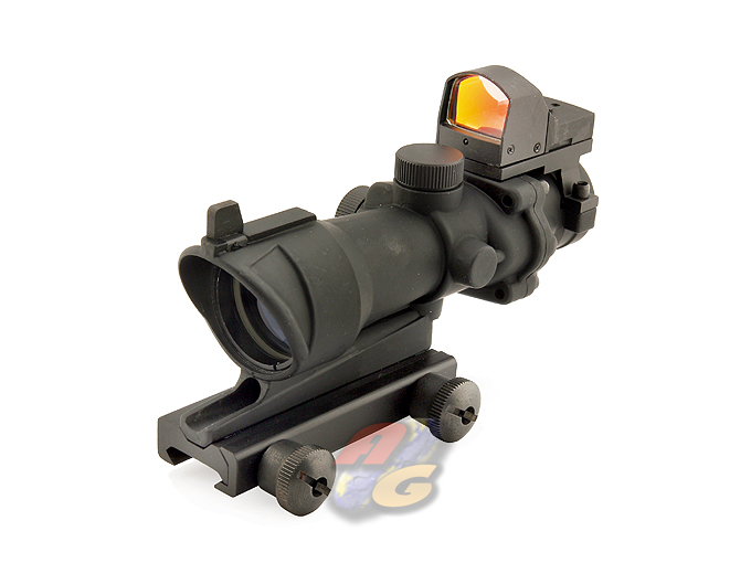 King Arms ACOG Style 4X32 Scope w/ OP Red Dot Sight