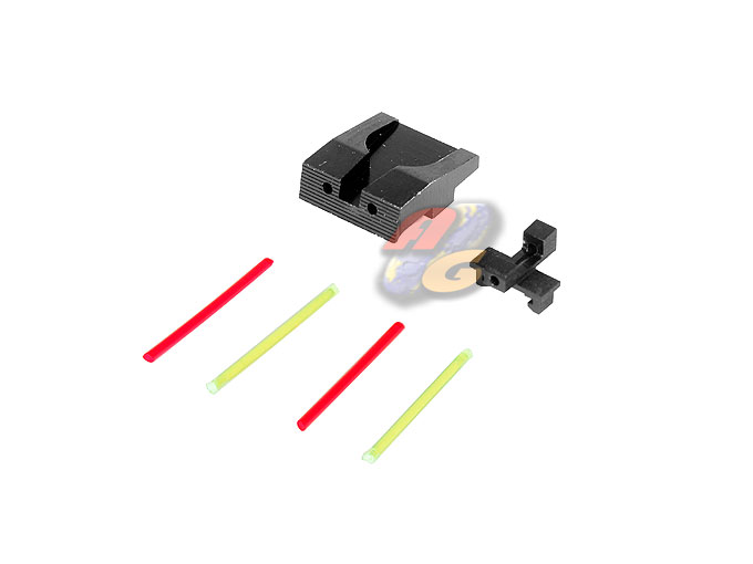 SAPH Aluminum Optical Fiber Front & Rear Sight For Marui XDM