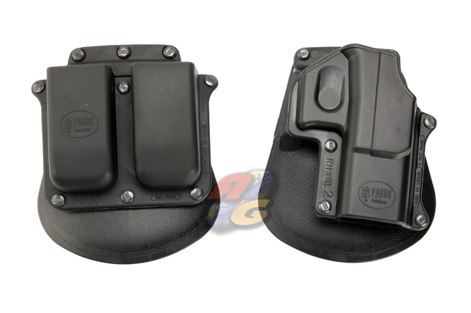V-Tech Elite Concealed G17 Holster With Magazine Pouch - Click Image to Close