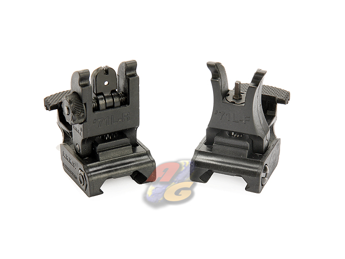 V-Tech #71L F/R Folding Sight Set (BK)