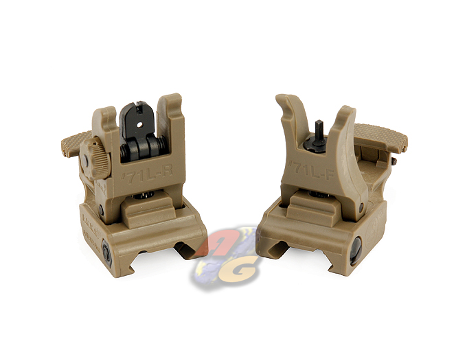 --Out of Stock--V-Tech #71L F/R Folding Sight Set (DE) - Click Image to Close