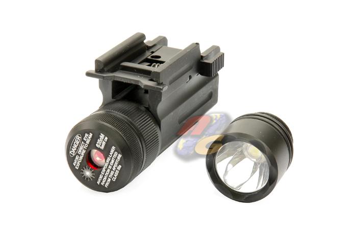V-Tech Pistol Rail Base Red Laser / Flash Light