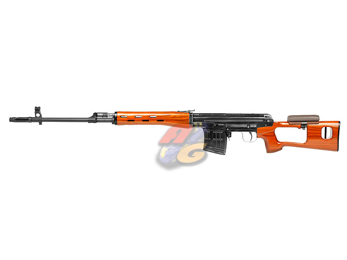-In Stock- WE ACE VD ( SVD ) Sniper Rifle GBB (Real Wood , Aluminum)