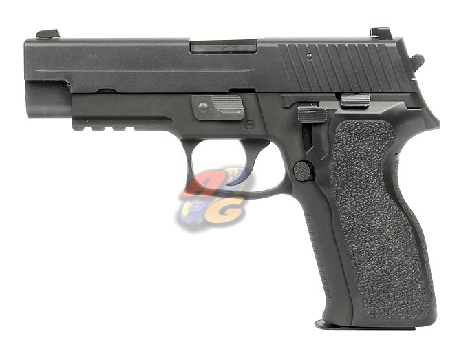 WE F 226 E2 Railed GBB Pistol (No Marking, BK, Full Metal)