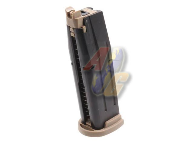 AEG F18 25 Rounds Gas Magazine ( TAN ) - Click Image to Close