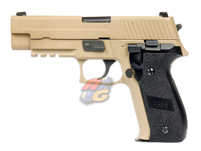 WE F 226 MK25 Railed GBB Pistol (No Marking, DE, Full Metal) - Click Image to Close