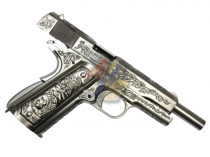 WE 1911 Classic Floral Pattern Gas Blowback Pistol - Click Image to Close