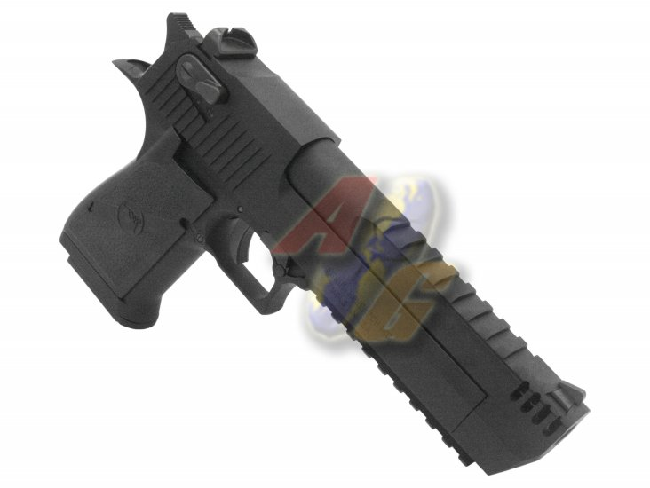 Cybergun/ WE Full Metal Desert Eagle L6 .50AE Pistol ( Black/ Licensed by Cybergun ) - Click Image to Close