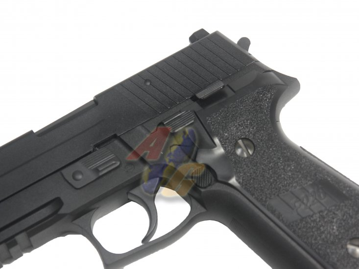 WE F 226 MK25 Railed GBB Pistol (No Marking, BK, Full Metal) - Click Image to Close