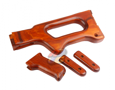 Out of Stock--A&K Real Wooden Handguard and Stock Kit For