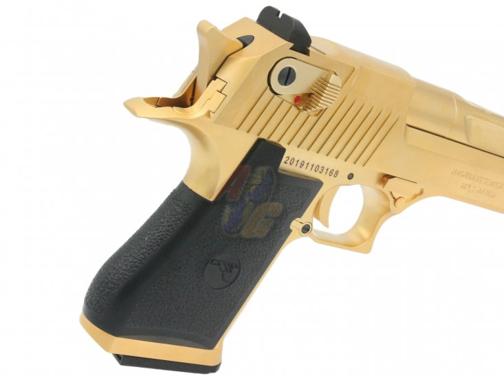 Cybergun/ WE Full Metal Desert Eagle .50AE Pistol ( Gold/ Licensed by Cybergun ) - Click Image to Close