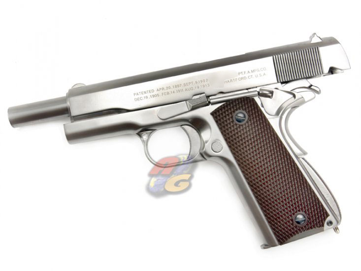 Out of Stock--WE M1911A1 (Full Metal, SV, Wooden Color Grip, With